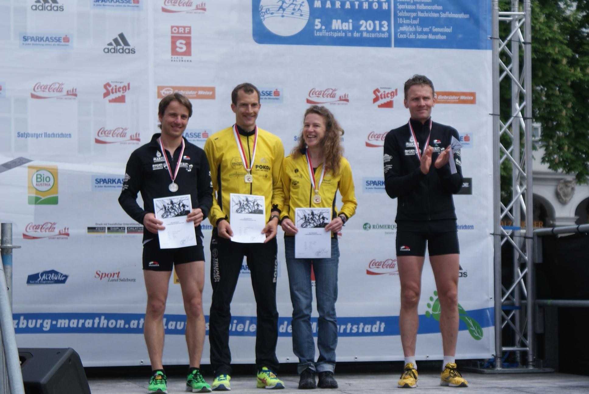 Siegerehrung LM Marathon 2013